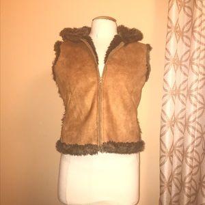 Lord & Taylor faux fur vest